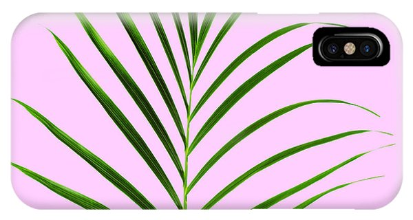 Pattern iPhone Case - Palm Leaf by Tony Cordoza