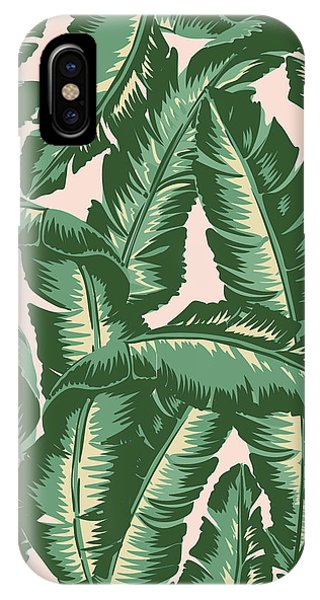 Beach iPhone Case - Palm Print by Lauren Amelia Hughes