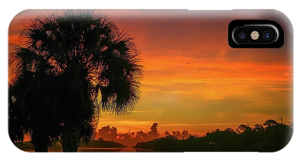Palm Silhouette Sunrise IPhone Case