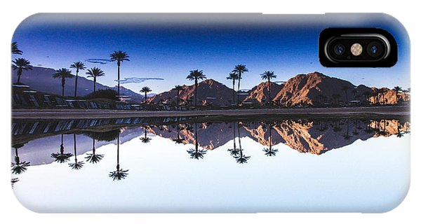 Spring Mountains iPhone Case - Palm Springs Reflection by Andrew Mason