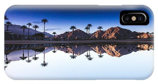 Palm Tree iPhone X Case - Palm Springs Reflection by Andrew Mason