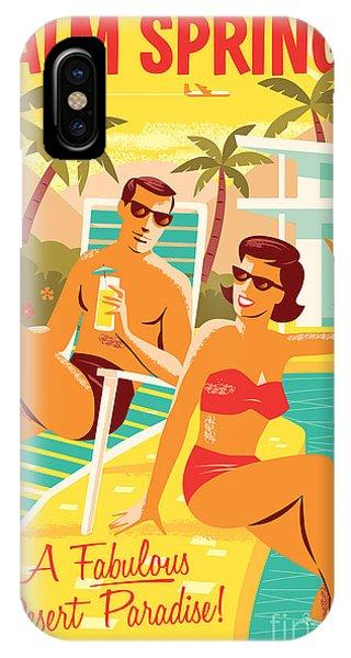 Desert iPhone Case - Palm Springs Retro Travel Poster by Jim Zahniser