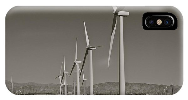 Palm Springs Windmills I In B And W IPhone Case