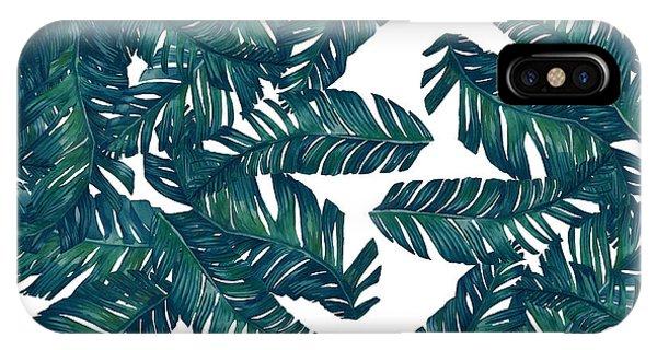 Leaf iPhone Case - Palm Tree 7 by Mark Ashkenazi