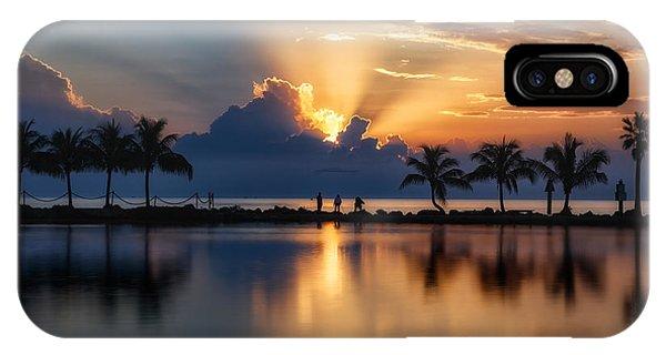 Palm Tree Framed Sunrise IPhone Case