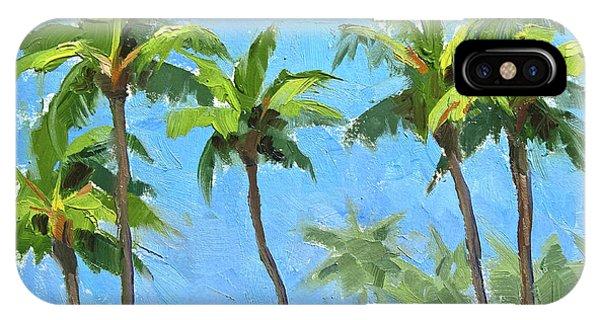 Palm Tree Plein Air Painting IPhone Case
