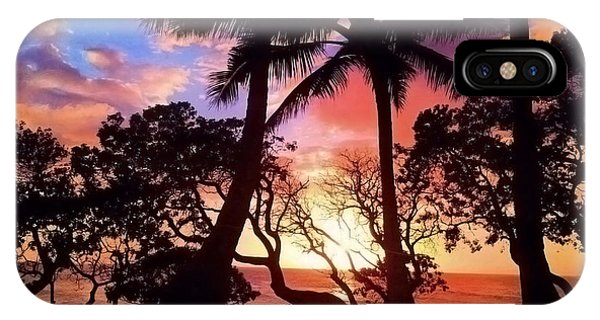 Palm Tree Silhouette IPhone Case
