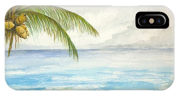 IPhone Case featuring the digital art Palm Tree Study by Darren Cannell