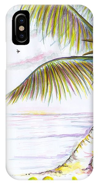 IPhone Case featuring the digital art Palm Tree Study Three by Darren Cannell