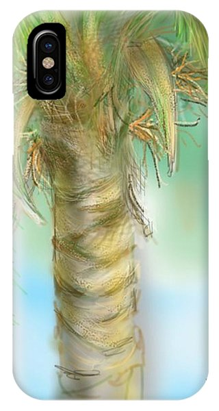 IPhone Case featuring the digital art Palm Tree Study Two by Darren Cannell