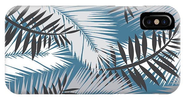 Triangles iPhone Case - Palm Trees 10 by Mark Ashkenazi