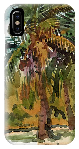 Palm Tree iPhone X Case - Palms In Key West by Donald Maier
