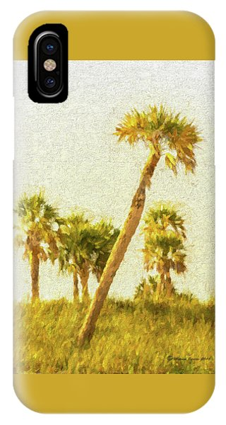 Palms On Canvas IPhone Case