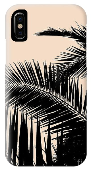 Palms On Pale Pink IPhone Case