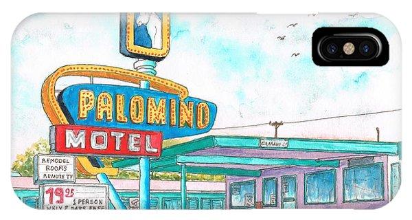 Palomino Motel In Route 66, Tucumcari, New Mexico IPhone Case