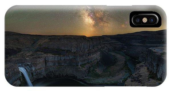 Palouse Falls Milky Way Galaxy  IPhone Case