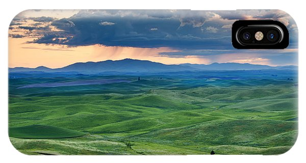 Green iPhone Case - Palouse Storm by Mike  Dawson