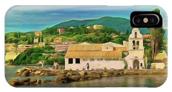 IPhone Case featuring the photograph Panagia Vlacherna Church - Pontikonisi - Corfu by Leigh Kemp