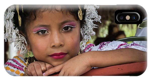 Panamanian Girl On Float In Parade IPhone Case