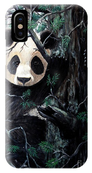 Panda In Tree IPhone Case