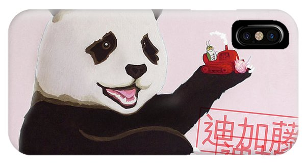 iPhone Case - Panda Joy Pink by Kato D