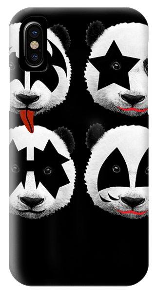 Famous People iPhone Case - Panda Kiss  by Mark Ashkenazi