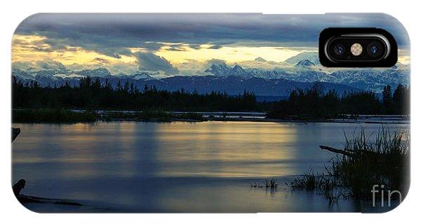Pano Alaska Midnight Sunset IPhone Case
