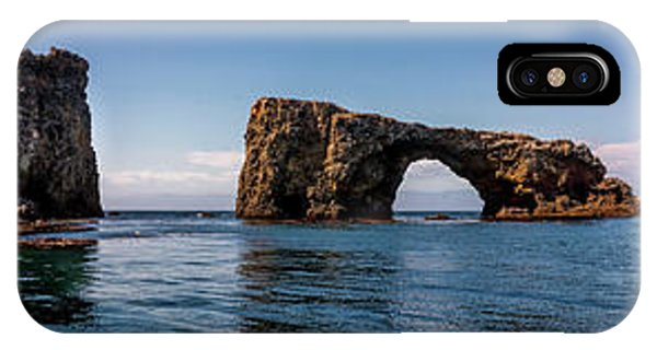 IPhone Case featuring the photograph Panorama Of Anacapa Rocks by Endre Balogh
