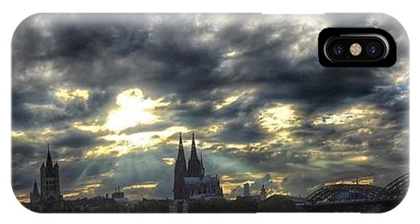 IPhone Case featuring the photograph Panorama Of Cologne by Dirk Jung