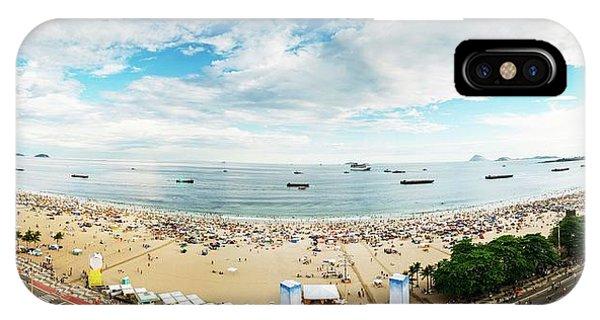 Panorama Of Copacabana, Rio De Janeiro, Brazil  IPhone Case