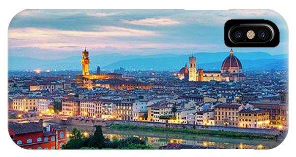 IPhone Case featuring the photograph Panorama Of Florence by Fabrizio Troiani
