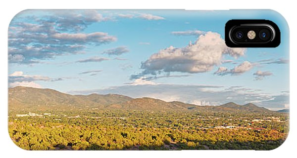 Sangre De Cristo iPhone Case - Panorama Of Santa Fe And Sangre De Cristo Mountains - New Mexico Land Of Enchantment by Silvio Ligutti