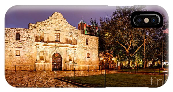 The Alamo iPhone Case - Panorama Of The Alamo In San Antonio At Dawn - San Antonio Texas by Silvio Ligutti