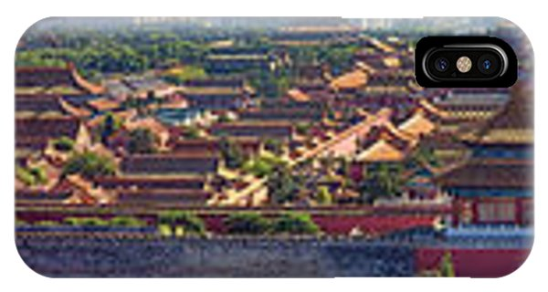 Forbidden City iPhone Case - Panorama Of The Forbidden City In Bejing by David Smith