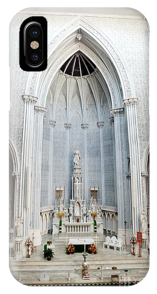 Panorama Of The Main Altar Of St. John The Evangalist Roman Catholic Church Schenectady IPhone Case