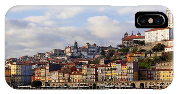 Panorama Of The Ribeira District Of The City Of Porto IPhone Case
