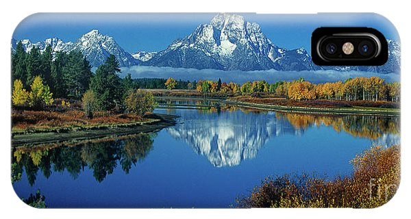 IPhone Case featuring the photograph Panorama Oxbow Bend Grand Tetons National Park Wyoming by Dave Welling