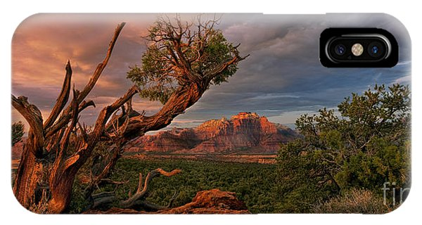 IPhone Case featuring the photograph Panorama Storm Back Of Zion Near Hurricane Utah by Dave Welling