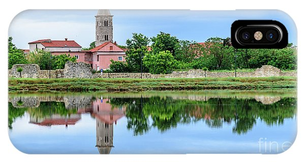 Panoramic Reflections Of Nin, Croatia IPhone Case