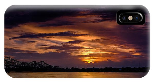 Panoramic Sunset At Natchez IPhone Case