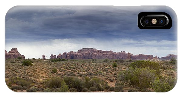 Panoramic View At Arches National Park IPhone Case