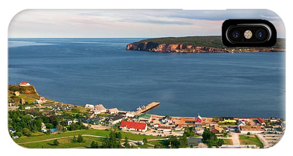 IPhone Case featuring the photograph Panoramic View In Perce Quebec by Elena Elisseeva