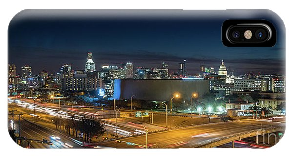 Panoramic View Of Busy Austin Texas Downtown IPhone Case