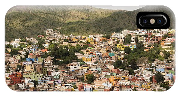 Guanajuato iPhone Case - Panoramic View Of Colorful Hillside Homes In Guanajuato Mexico by Juli Scalzi