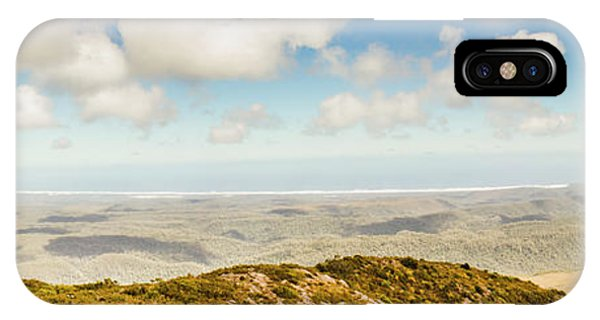 Trial iPhone Case - Panoramic Views From Mount Zeehan To Trial Harbour by Jorgo Photography - Wall Art Gallery