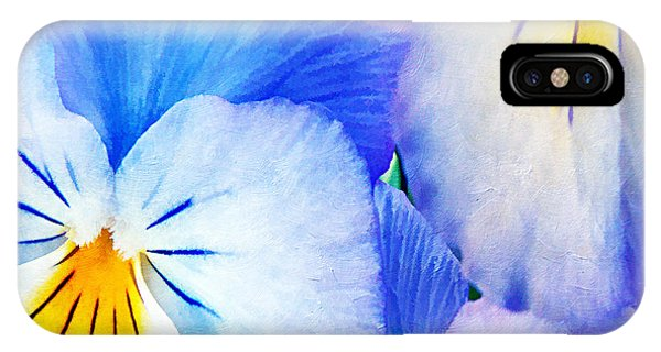 Pansies In Blue Tones IPhone Case