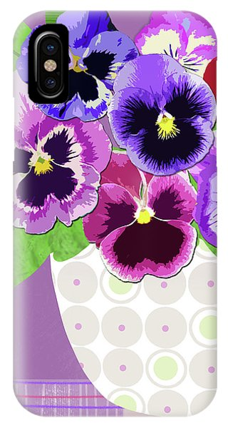 Pansies Stand For Thoughts IPhone Case