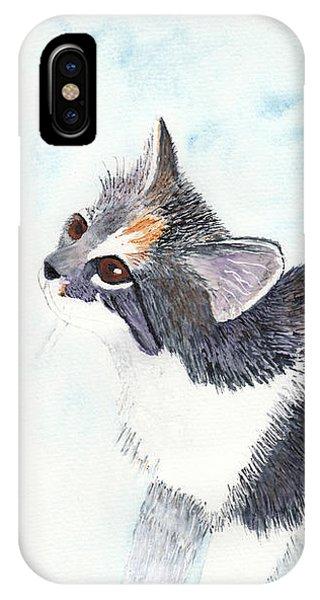 Calico Barn Cat Watercolor IPhone Case