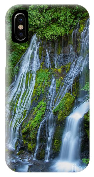 Panther Creek Falls Summer Waterfall 1 IPhone Case