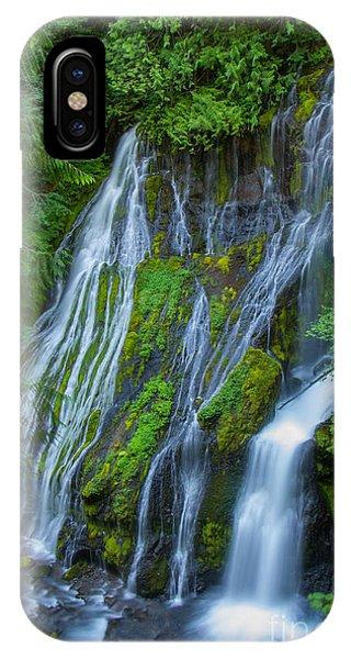 Panther Creek Falls Summer Waterfall 1 IPhone Case